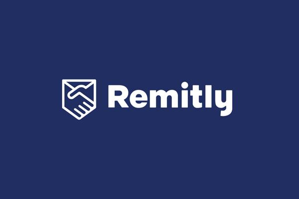O logo do Remitly em azul marinho