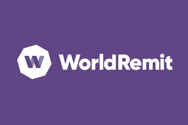 O logo do WorldRemit em roxo