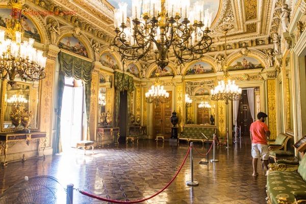 Um dos salões do Palácio do Catete, um dos museus no Rio de Janeiro que merece a sua atenção