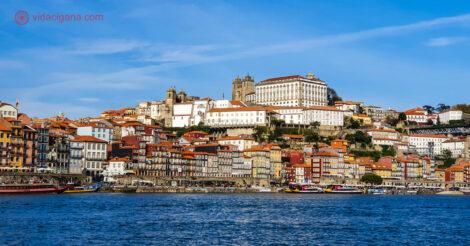 A Ribeira vista de Gaia, um dos locais mais requisitados na hora de saber onde ficar no Porto.