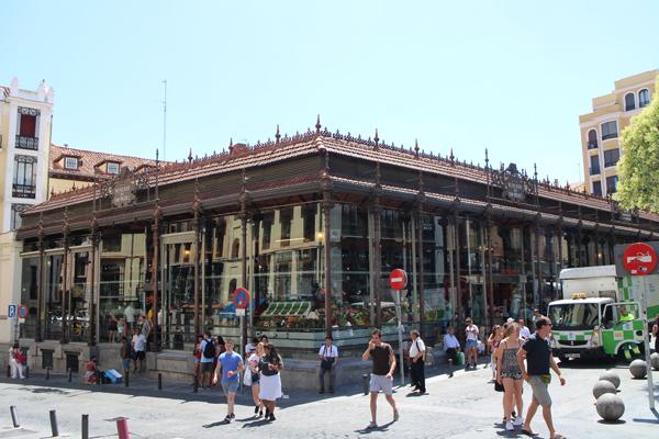 O Mercado de São Miguel, feito em aço
