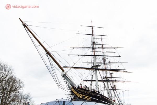 O antigo barco que transportava chá, o Cutty Sark