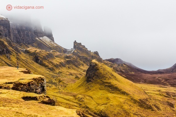 O Quiraing, na Ilha de Skye, região das Highlands escocesas.