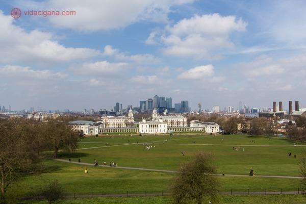 Londres ao fundo vista do Greenwich Park